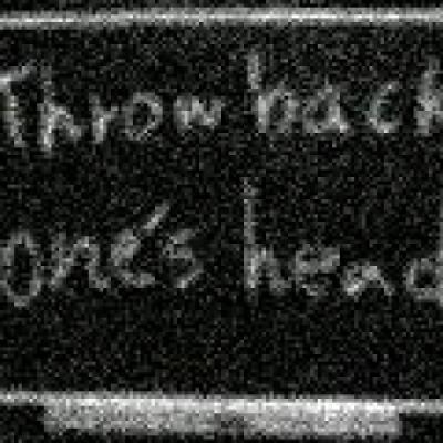 throw back one's head